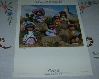 Goebel Collector's Club ~DeGrazia 1986 Calendar