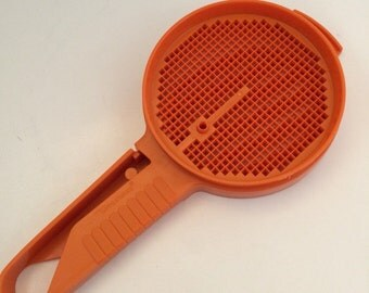 Vintage Tupperware Flour Sifter Orange Plastic
