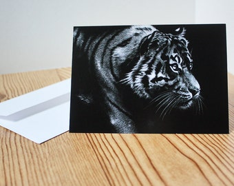 Blank Note Card Tiger Note Card Animal Art Note Cards Wildlife Note Cards Greeting Cards Art Note Card Wildlife Art Animal Prints