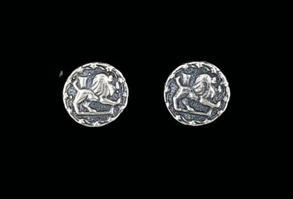 Sterling Silver Zodiac Earrings Leo