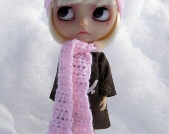 Blythe Rag Bag Designs Baby Pink Crochet Hat & Scarf Set