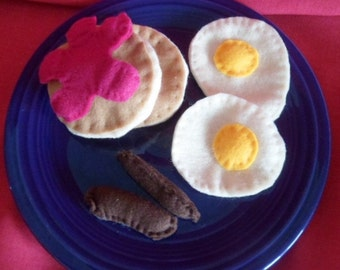 Hand Stitched Felt Food Breakfast