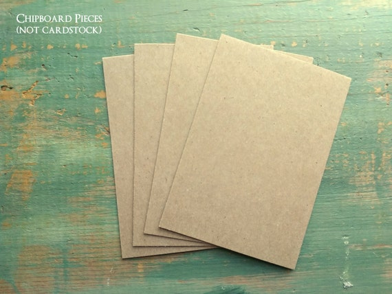 "100 A2 Chipboard Pieces: Rustic Kraft Brown Display Cards, Recycled, 4.25""x5.5"" (108x140mm), Choose 20pt,  22pt, 30pt or 50pt (.050"")"