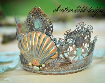 Bridal crown, tiara, Movie, theater, wedding, costume prop queen, mermaid, princess tiara crown