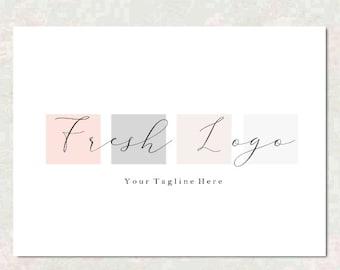 Premade Logo Design - Boutique Logo Design - Photography Logo - Squares - Cosmetic Logo - Real estate Logo  - Realtor Logo - Pastel Logo