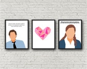 ALL 3 PRINTS - The Office, Jim Halpert, Pam Beesly, Pam and Jim, Jam, Love Quotes, Digital Download, tv sitcom, Printables, Valentines Day
