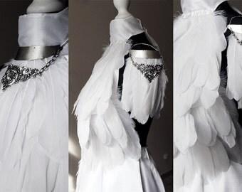 Angel wing shoulder piece or necklace