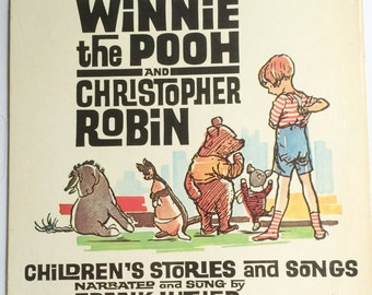 WINNIE THE POOH And Christopher Robin - Frank Luther Lp Original Vinyl Record Album