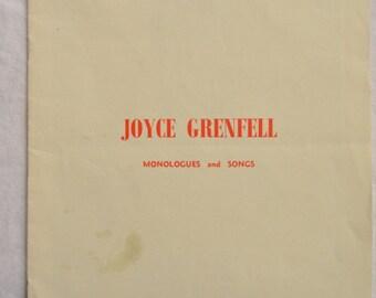 Joyce Grenfell, Queen's Theatre London, Vintage Theatre Programme, 1960s, Stage Ephemera, Photos, Original Copy, Memorabilia, Monologues
