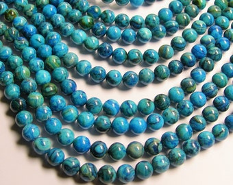 Blue Crazy Lace Agate - 8mm round - 1 full strand - 49 beads - A quality - RFG521
