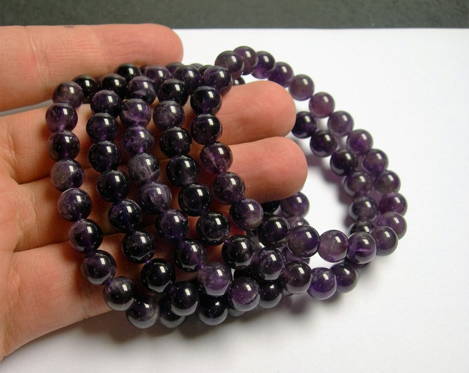 Amethyst - 8mm round beads - 23 beads - 1 set - Ab quality - HSG8