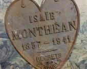 Antique French Memorial Plaque
