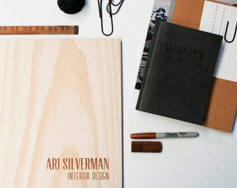 Portfolio Wood 12x17 A3 Folio Custom Engraved  Photography Graphic Design Graduation