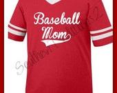 Baseball Mom Tshirt - Baseball Mom Striped T shirt - Football Mom tshirt