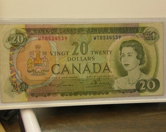 Nice Circulated Canada 1969 20 Dollars Currency Note 1