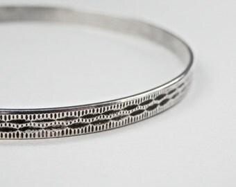 Bangle Bracelet, Sterling Bangle, Vintage Bangle, Sterling Silver, Silver Bangle, Vintage Jewelry, British Hallmarks, Signed Jewelry, 925