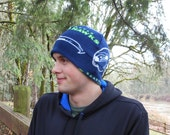 Seattle Seahawks Team Adult Fleece Beanie Hat For Men Or Women With Extra Warmth Band Great Gift