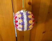 Christmas Glass Ornament Crochet in Cotton Yarn , Holiday Decoration, Tree Ornament,