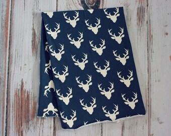 Deer Print Cotton Knit Swaddle Blanket