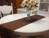 """Brown Burlap Runner- 14"""" Wide-Choose your Length/Color -Wedding Decor-Home or Office Decor"""