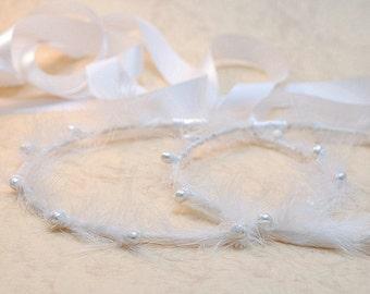 STEFANA Wedding Crowns -  Orthodox Stefana - Bridal Crowns  SNOW-WHITE - One Pair