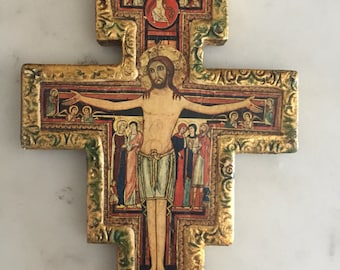 Religious cross plaque made in Italy