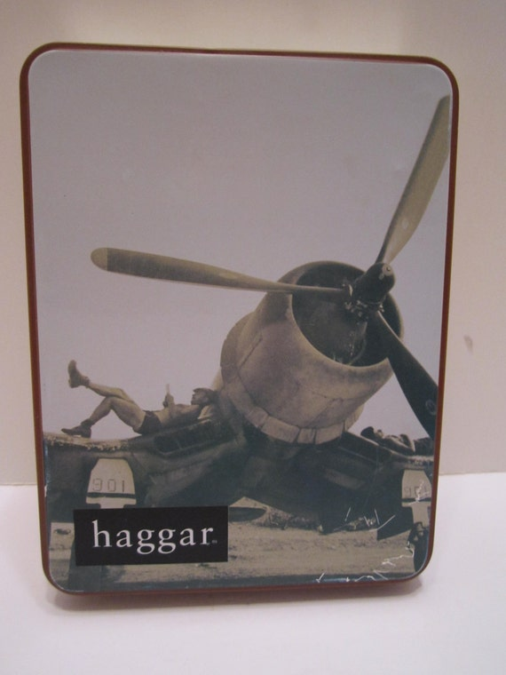 Haggar Vintage Tin Container - Men's Clothing Brand Vintage Tin