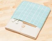 iPad 9.7 case / iPad sleeve / iPad Pro 10.5 cover / ipad retina case /  padded, herringbone - lines -