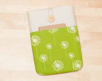 kindle paperwhite cover / Kobo glo HD case / kindle case / kobo mini case / Kobo Aura sleeve case - green dandelion