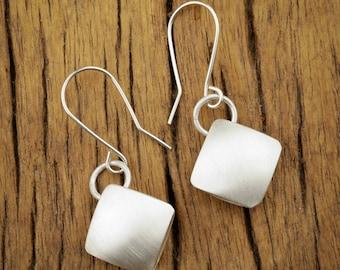 Light as Air Sterling Silver Cushion Earrings