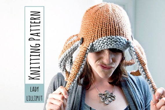 PATTERN - Knit Octopus Hat