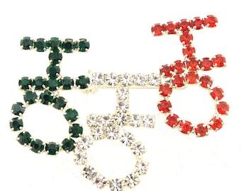 Christmas Colored HO HO HO Brooch Pin 1005561