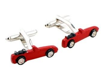 Red Sports Car Cufflinks Cuff links 1200185