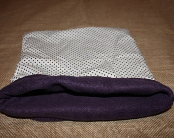 XL/LARGE Polka dot Pouch for small pocket pets.