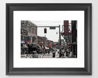 Fine Art Print Beale Street Memphis Tennessee Street Scene