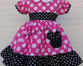 Minnie Mouse Dress Med Pink Puff Sleeve Dress
