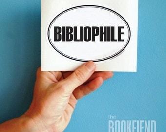 bibliophile bumper sticker