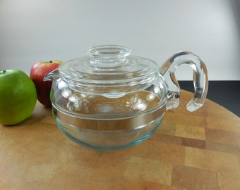 Pyrex Flameware Glass Tea Pot Teapot 8446B... 6 Cup