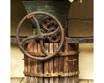 Fine Art Color Travel Photography of Old Wine Press in Rhine Valley Germany