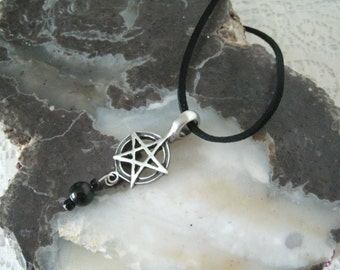 Pentacle Necklace, wiccan jewelry pagan jewelry wicca jewelry pentagram jewelry witchcraft witch magic gothic wiccan necklace