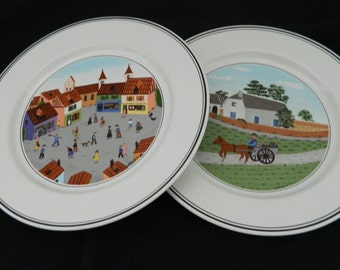 Naif Design Villeroy & Boch Salad Luncheon Plates Luxembourg Gerard Laplau 1 and 4