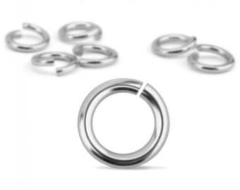Jump Rings, Silver Plated, 20 Gauge, 7mm, 90 Pack-Impressart Brand-Metal Supply Chick-1AJR127S