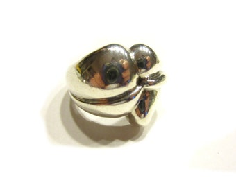 Sterling Silver Ring 925 Knot Ring Size 8 1/4 Large