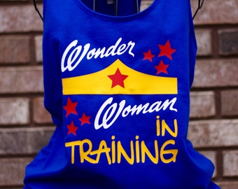 Wonder Woman in Training Workout Tank - Funny Tank Top