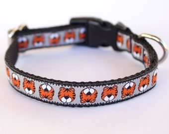 Little Tiger Teacup Dog Collar, Cat Collar,  1/2 inch width, Puppy Dog Collar