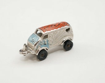 Vintage Sterling 1970s Hippie Van with Movable Wheels