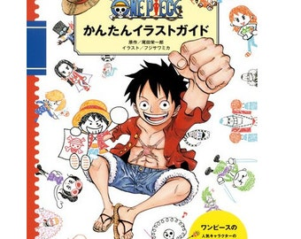 Japanese Anime Manga One Piece Characters  Illustration  with Ball pens Book   Japanese Craft Book