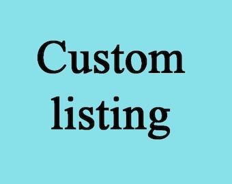 Custom listing to Andrea Buono