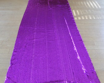 """Gorgeous Purple Stretch Sequin Fabric by The Yard 44"""" Wide"""