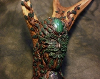 RESERVED FOR ANDY (Custom Order) - Keeper of the Sacred Woods - Green Man Staff